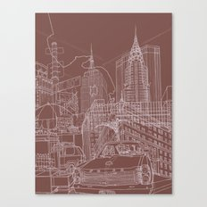 New York! Clay Canvas Print