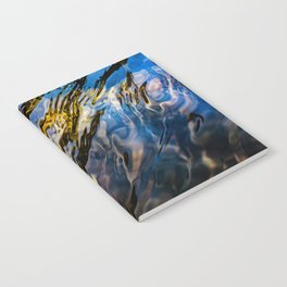 River Ripples in Copper Gold Blue and Brown Notebook