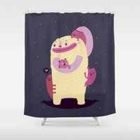 mother Shower Curtains featuring Mother by Maria Jose Da Luz
