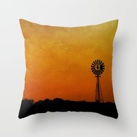 kansas Throw Pillows featuring Kansas by RDelean
