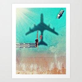The Big Dive by GEN Z Art Print