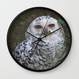 Dream Creatures, Snowy Owl, DeepDream Wall Clock