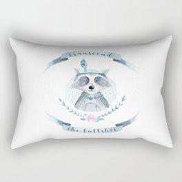 transcend the bullshit Rectangular Pillow