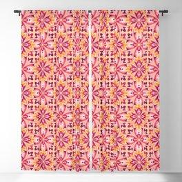 Ruby & Amber Elegant Tiles (pattern) Blackout Curtain