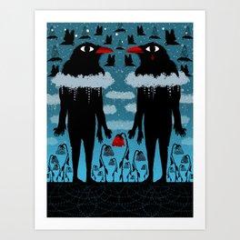 Black Crows Art Print