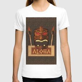 Vintage Wood Tiki Aloha T-shirt