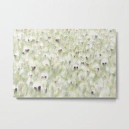 Pansy Field Floral Pattern III Metal Print