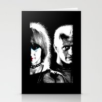blade runner Stationery Cards featuring Blade Runner Nexus 6 by PsychoBudgie