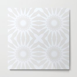 Gray pinwheel Flower Metal Print
