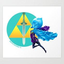 Faih, the Goddess Sword Art Print