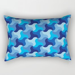 All-Blue Alhambra Rectangular Pillow