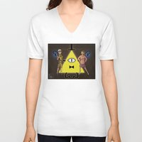 gravity falls V-neck T-shirts featuring Gravity Falls by Dee Draws