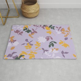 Beautiful Cut Out Flowers Rug