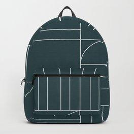 Deco Geometric 04 Teal Backpack