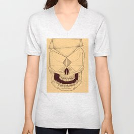 Abstract Skull 2 Unisex V-Neck
