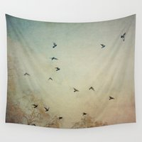 wings Wall Tapestries featuring Wings by Stella Ortiz