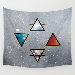 The four elements Wall Tapestry