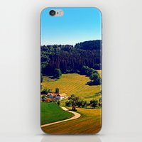 hiking iPhone & iPod Skins featuring Hiking through springtime scenery by Patrick Jobst