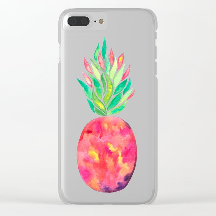 Pineapple Flare Clear iPhone Case