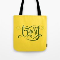 brasil Tote Bags featuring BRASIL by Roberlan Borges