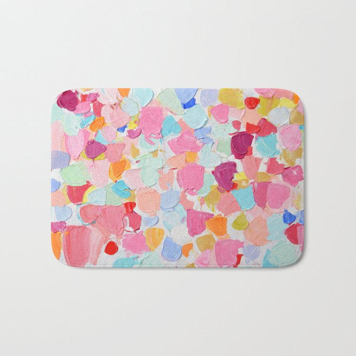 Amoebic Confetti Bath Mat