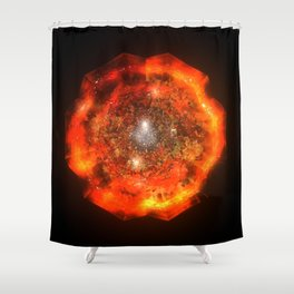 The Eye Of Cyma: Fire And Ice - Frame 146 Shower Curtain
