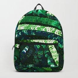 Green Art Deco Sequins Backpack