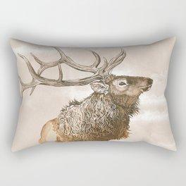 Misty Morning Elk Rectangular Pillow