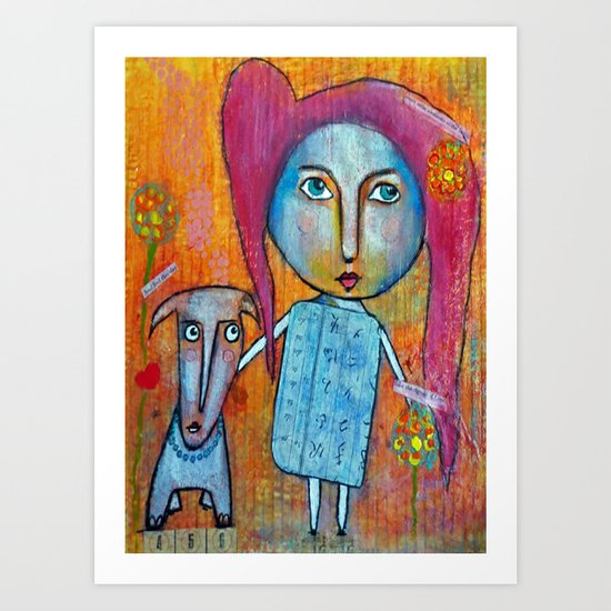 Me and My Dog Art Print