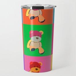 Pop Art Teddy Bear Travel Mug