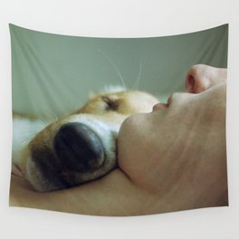 While you were sleeping  Wall Tapestry