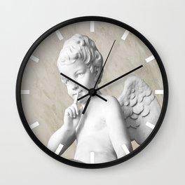 Ancient Sculpture Angel Decor Wall Clock