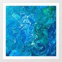 Elegant Crazy Lace Agate 2 - Blue Aqua by lematworks