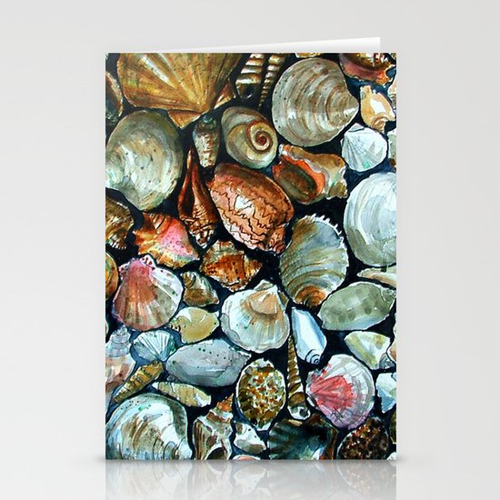 Sea shells  Stationery Cards