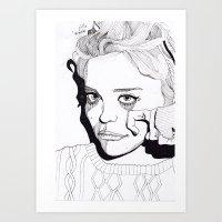 sky ferreira Art Prints featuring Sky Ferreira by ☿ cactei ☿