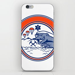 Honey Badger Land Sea Air Rescue Mascot iPhone Skin