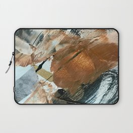 Chocolate Kisses [2]: A bold, minimal, abstract piece in pink, gold, brown, black and white Laptop Sleeve