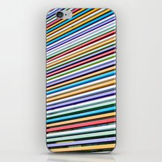 Colored Lines On The Wall iPhone & iPod Skin
