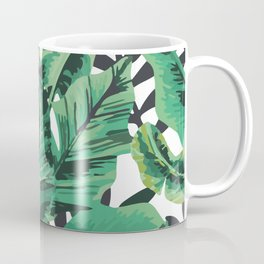 Tropical Glam Banana Leaf Print Coffee Mug