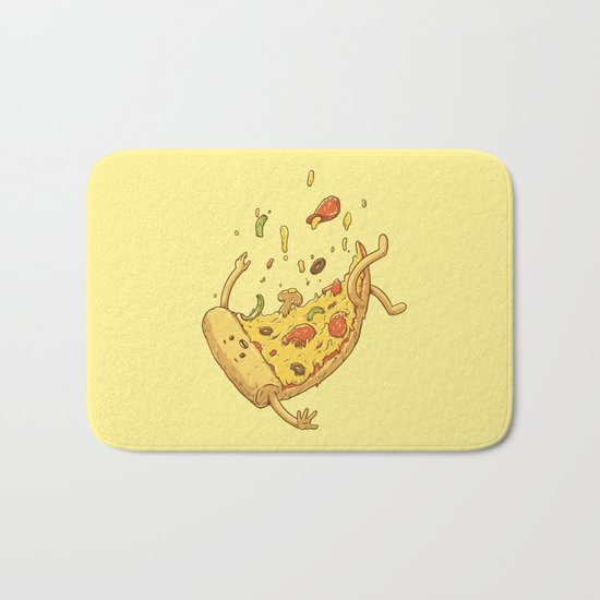 Pizza fall Bath Mat
