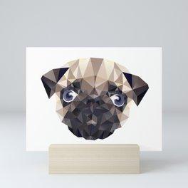 Pug Diamonds Mini Art Print
