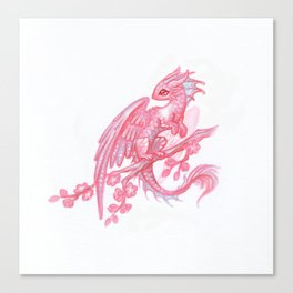 Little sakura dragon Canvas Print