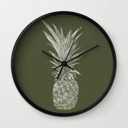 Pineapple : L'Olive Wall Clock