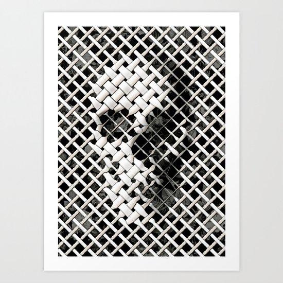 Wicker Skull Art Print