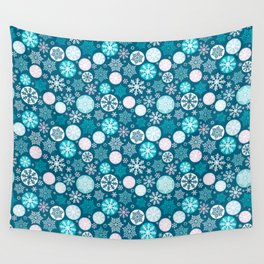 Magical snowflakes IV Wall Tapestry