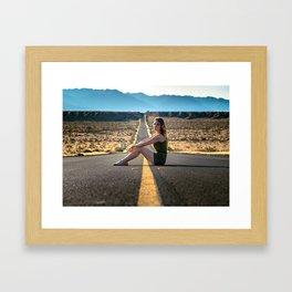 Adventure through the desert Framed Art Print