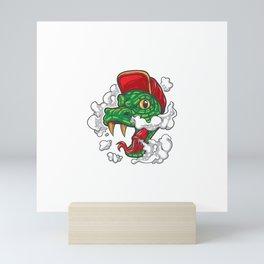 Snake Smokes Mini Art Print