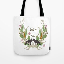 Wild and Free Fall Animals Tote Bag