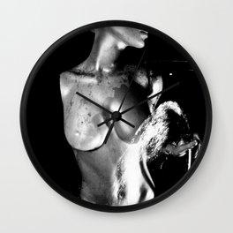 Goddess water fountain Wall Clock