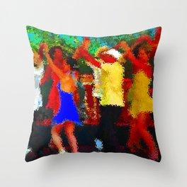 Cuban dancers Throw Pillow